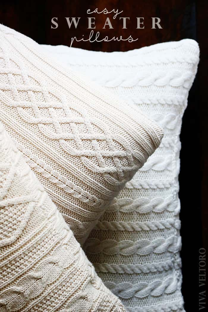 Make your own Sweater Pillows! DIY Tutorial
