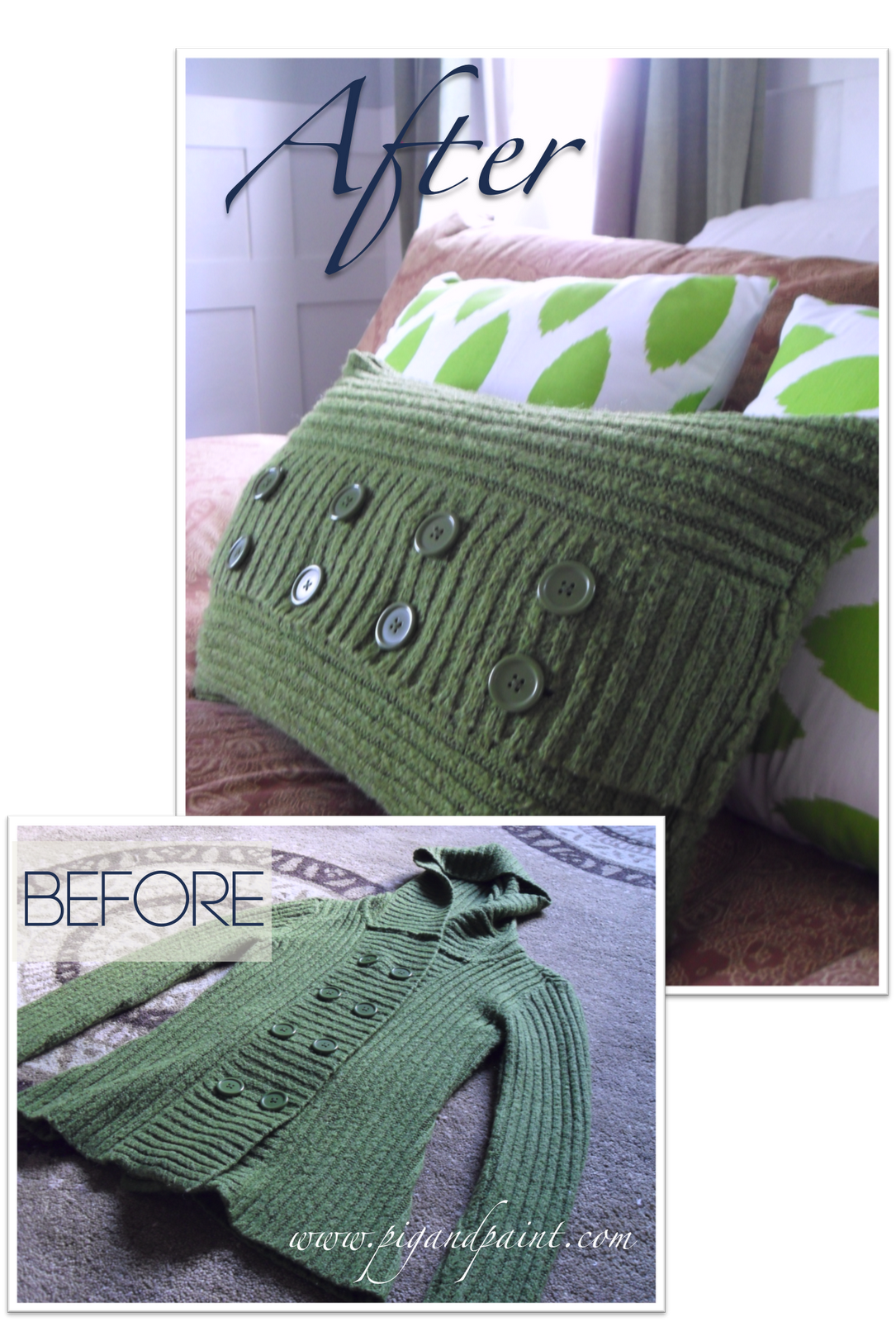 Pillow Power {Take Two}_ The Bow-Chica-Bow-Wow Bedroom Makeover