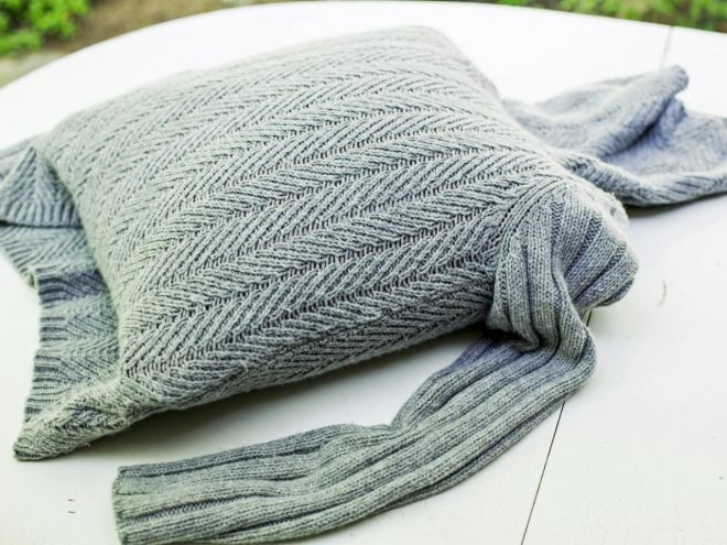 Turn an Old Sweater Into a Chic, Preppy Pillow